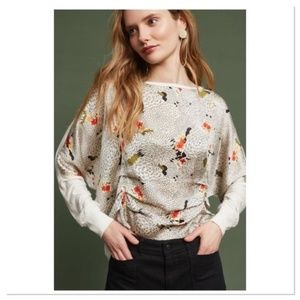 Anthropologie TINY Micah gathered top floral print